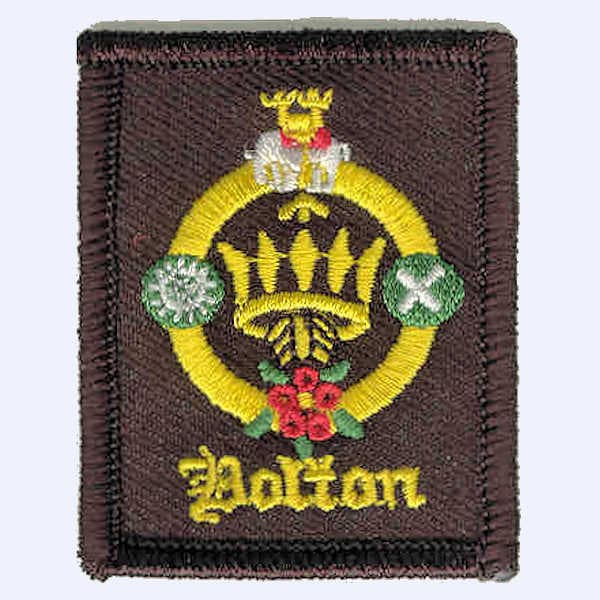 Bolton District Embroidered Necker Badge badge