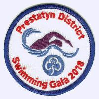 Prestatyn District Guides Simming Gala 2018 badge