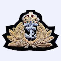 bullion-embroidered cloth badge badge