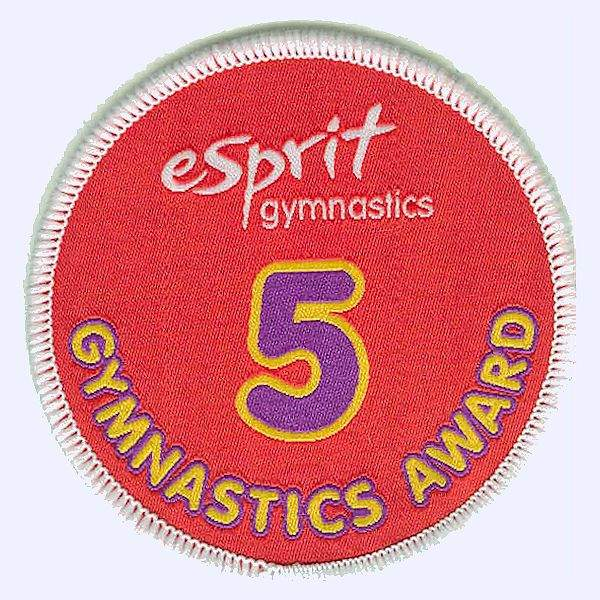 Esprit Gymnastics level 5 award badge