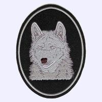 Wolf Head embroidered blanket badge