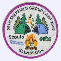 59th Sheffield Group Camp 2019 badge
