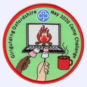 Girlguiding Oxfordshire May 2020 Camp Challenge badge