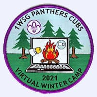 1st Woodmancote Cubs Winter Camp-2021 badge