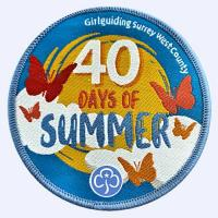 Girlguiding Surrey West 40 Days of Summer 2021 badge