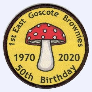 1st East Goscote Brownies 50th Birthday badge