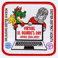 Virtual St George's Day 2021 badge