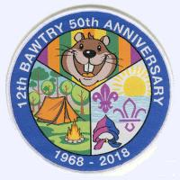 12th Bawtree Scouts 50th Anniversary badge