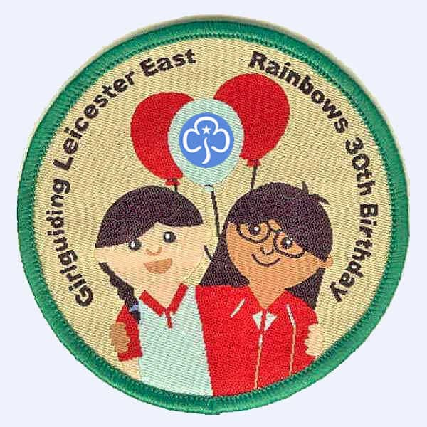 Leicestershire East Rainbows 30th birthday badge