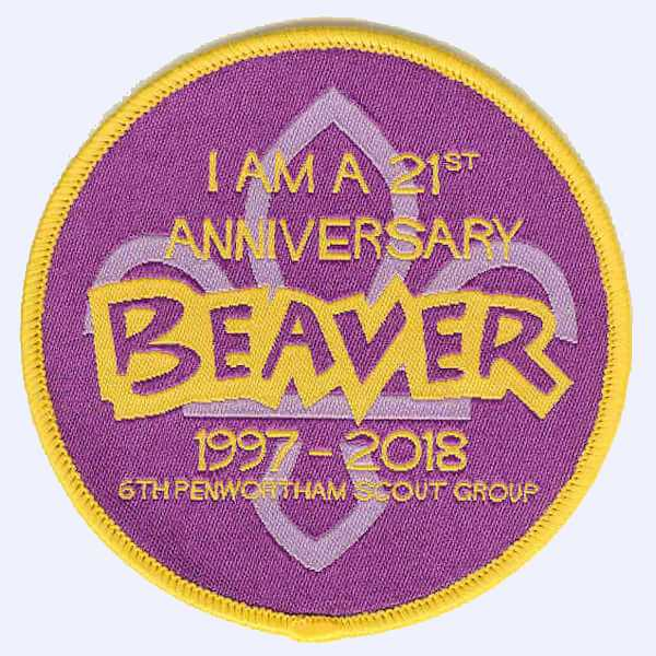 6th Penwortham Scout Group Beavers Anniversary badge