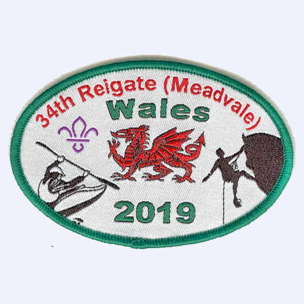 34th Reigate Scouts - Wales 2019 badge