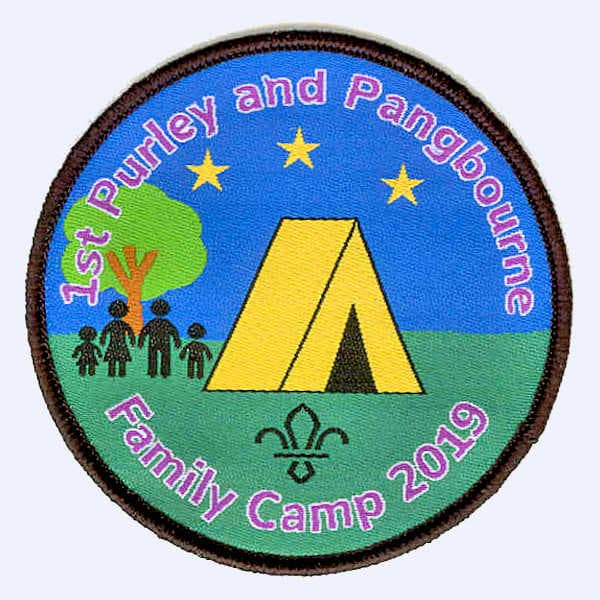 1st Purley & Pangbourne Family Camp 2019 badge