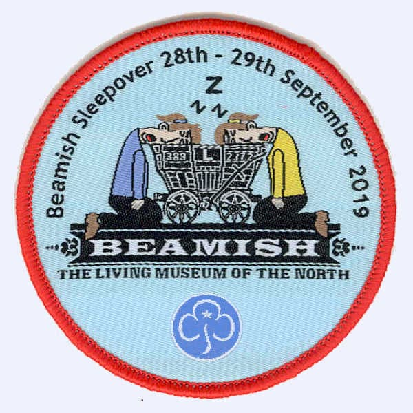 Guides and Brownies Beamish sleepover badge