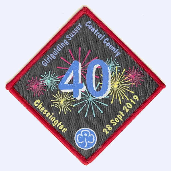 Girlguiding Sussex Central Chessington 2019 badge