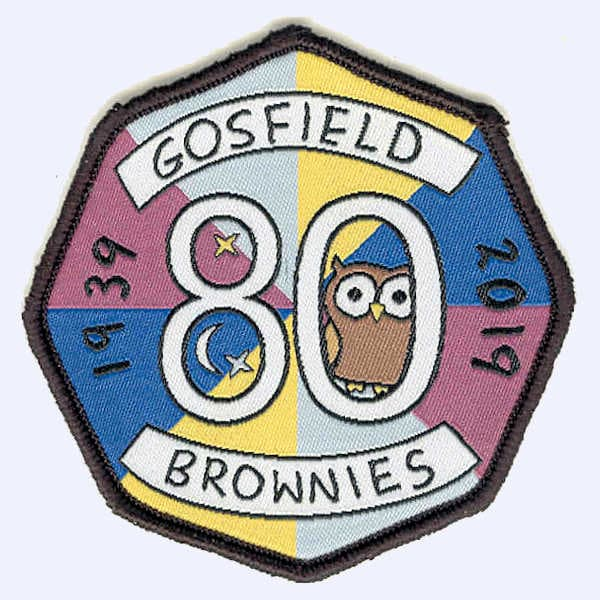Gosfield Brownies 80th Anniversary badge