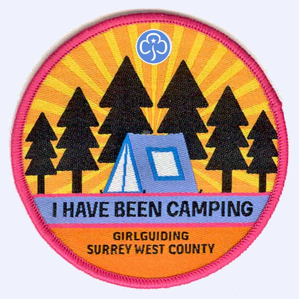 Girlguiding Surrey West - I've Been Camping badge