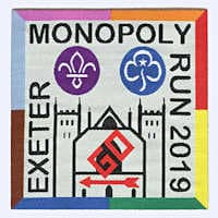 Exeter Scouts Monopoly Run 2019 badge