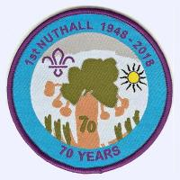 1st Nuthall Scout Group 70th Anniversary badge