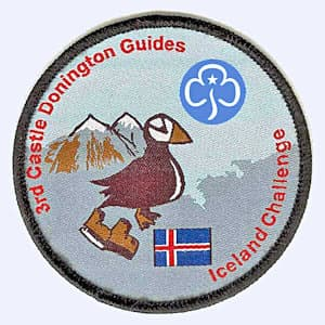 Nottingham Badges | 3rd Castle Donington Guides Iceland 2018 badge