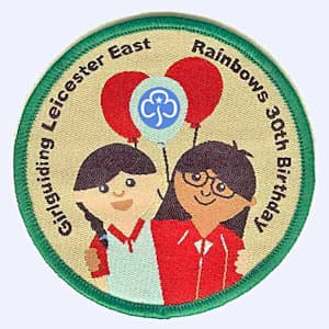 Nottingham Badges | Leicestershire East Rainbows 30th birthday badge