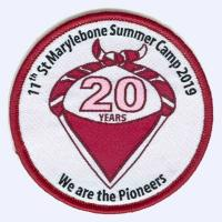 11th St Marylebone Scouts Summer Camp 2019 badge