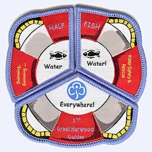 Nottingham Badges | 5th Great Harwood Guides swimming badge badge