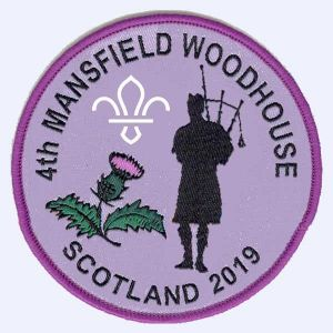 4th Mansfield Woodhouse Scouts - Scotland 2019 badge