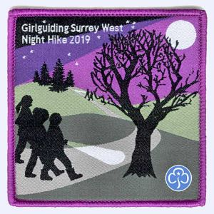 Nottingham Badges | Girlguiding Surrey West Night Hike 2019 badge