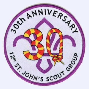 Nottingham Badges | 12th St. John's Scout Group 30th Anniversary badge