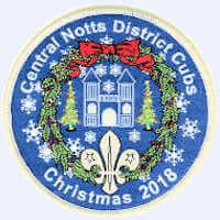 Central Notts District Cubs Christmas 2018 badge badge