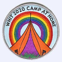 Whitsun 2020: camp at home badge