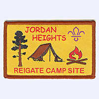 Nottingham Badges | Jordan Heights Camp Site badge