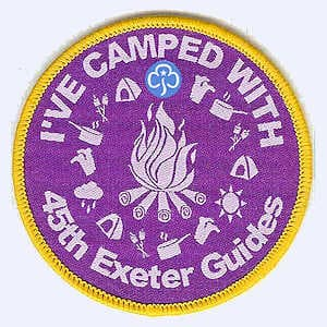 45th Exeter Guides Camp badge