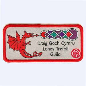 Nottingham Badges | Welsh Red Dragon Lones Trefoil Guild badge