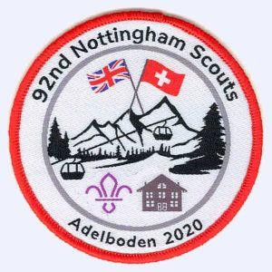 Nottingham Badges | 92nd Nottingham Scouts Adelboden 2020 badge
