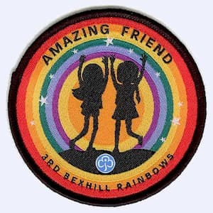 Nottingham Badges | 3rd Bexhill Rainbows Amazing Friend badge