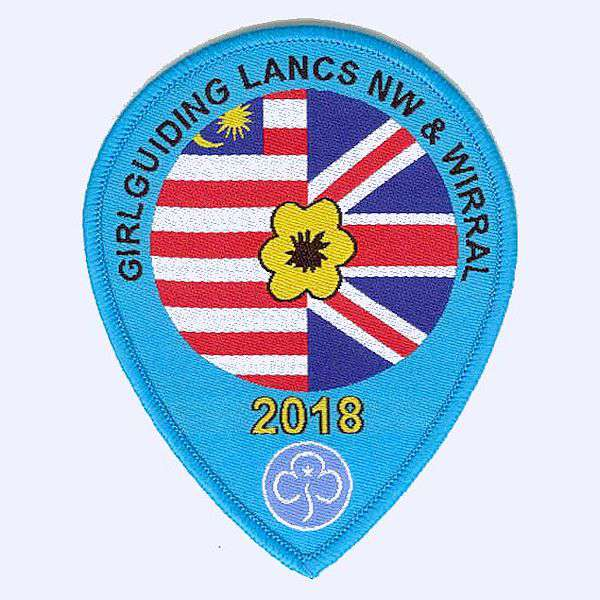 Girl Guiding Lancs & Wirral Malaysia 2018 badge
