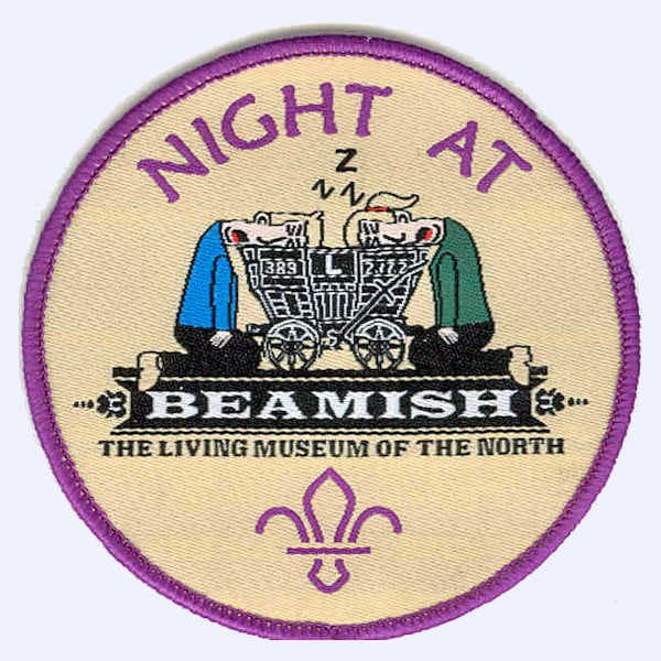 20th Durham Scouts Beamish Sleepover badge