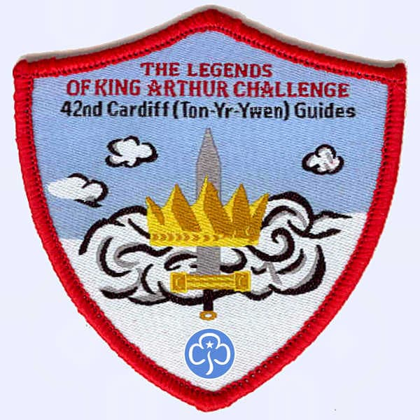 42nd Cardiff Guides - King Arthur Legends Challeng badge
