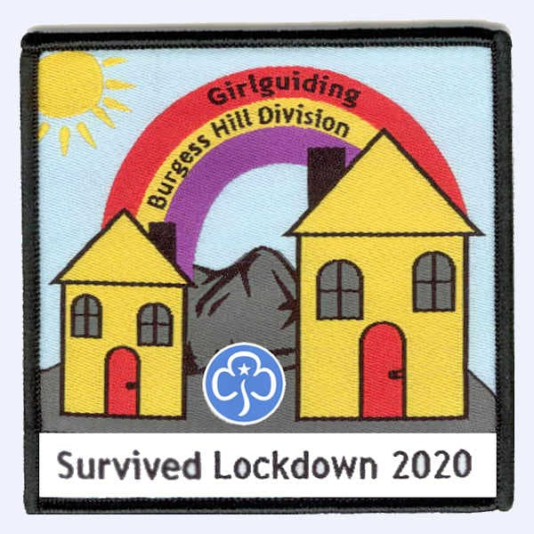Girlguiding Burgess Hill Survived Lockdown 2020 badge