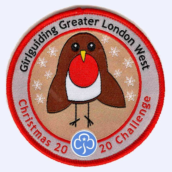 Girlguiding Greater London West - Christmas Challe badge